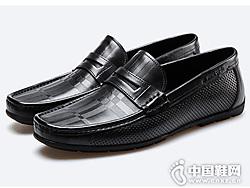 皮��卡丹2019新款舒�m透�庖荒_蹬皮鞋
