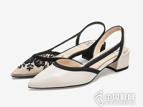 Tata他她2019新款時尚ins潮包頭仙女風女涼鞋