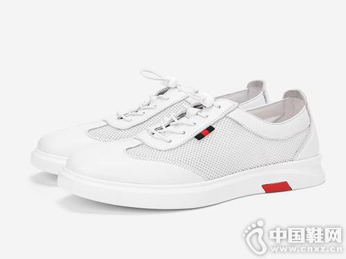 梦特娇男鞋2019春季新款休闲板鞋