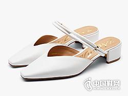 莎莎苏2019一鞋两穿包头穆勒拖鞋