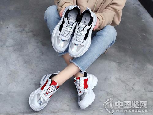 慕兰茜MULANXI新款舒适潮流老爹鞋