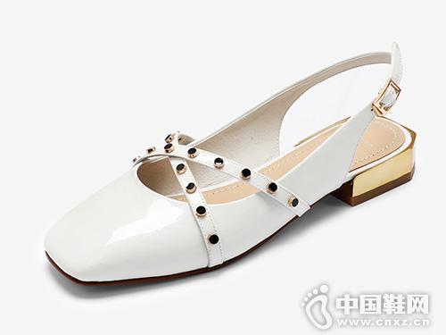 欧罗巴2019新款凉鞋女夏百搭包头玛丽珍鞋