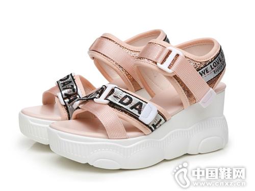 2019夏季新款圣恩熙厚底内增高凉鞋