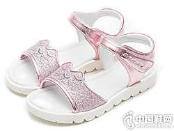 斯乃纳至悦女童凉鞋2019夏新款公主皮鞋