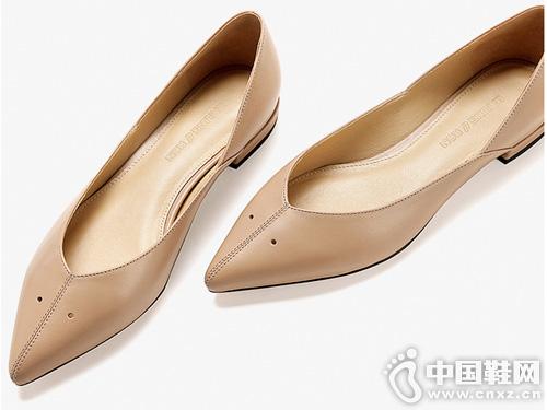低跟单鞋白领丽人平底单鞋女2019春新款