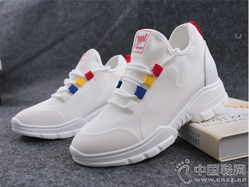 新款舒适时尚SHUANGFENG双凤内增高小白鞋