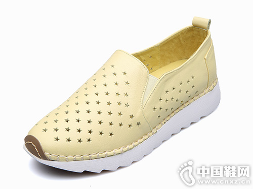 芭妮乐福鞋春夏季新款单鞋透气小白鞋