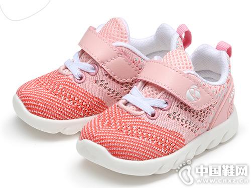 阿福貝貝2019春季1-3歲透氣網面運動鞋