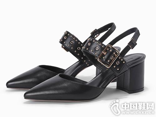 2019新款迪朵Diduo歐美時尚包頭涼鞋