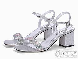 迪朵Diduo女鞋2019夏季新款一字��露趾�鲂�