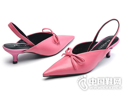 艾米奇2019夏季新款女鞋尖头细跟鞋