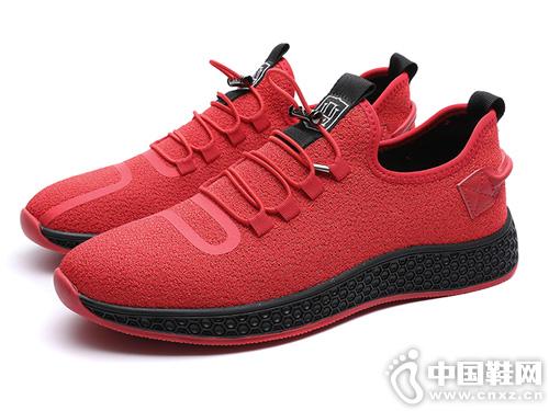 红蜻蜓春季2019新款男士透气运动板鞋