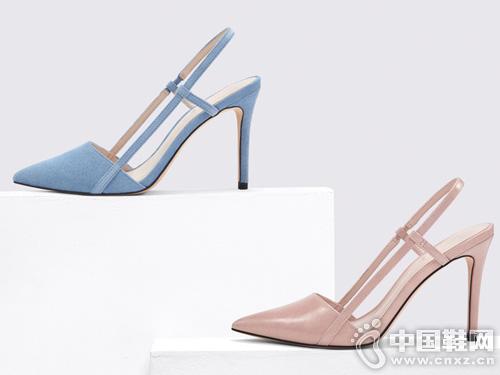 歐美簡約女士尖頭高跟鞋CHARLES&KEITH新款