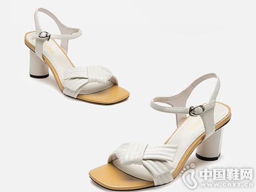 麦露迪一字带高跟鞋2019新款
