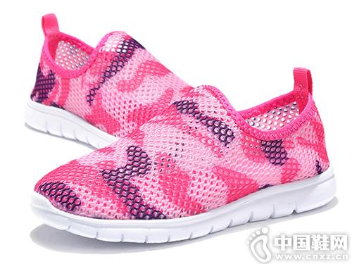 透气一脚蹬镂空网面鞋百变宝贝童鞋新款
