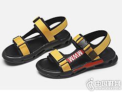 卡丹路凉鞋男2019夏季新款厚底沙滩凉鞋