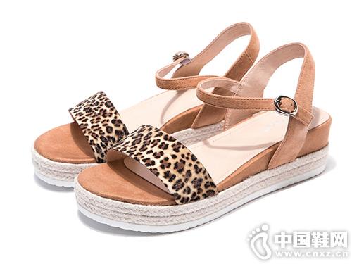 平底松糕奧康女鞋2019夏季新款羅馬涼鞋