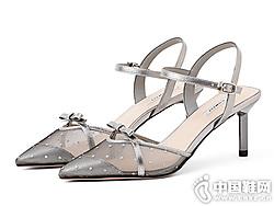 comely康莉女鞋2019夏季新款蝴蝶结细跟凉鞋