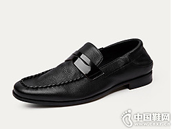 2019爱得堡乐福鞋男英伦休闲皮鞋