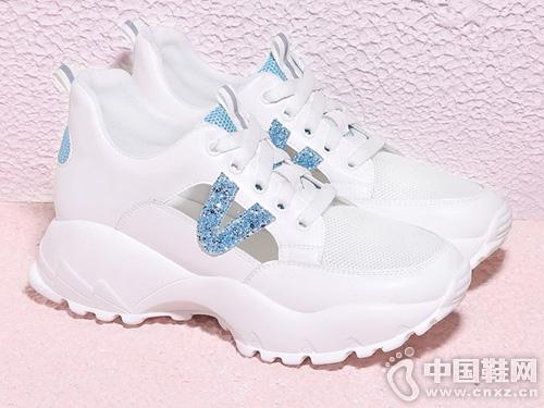 透气运动鞋白色网鞋夏季古奇天伦2019新款