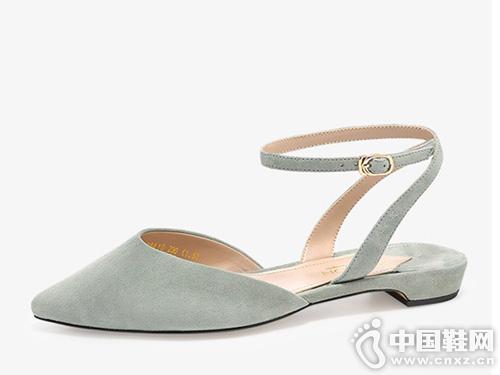 哈森2019夏季新款休闲女鞋 百搭凉鞋