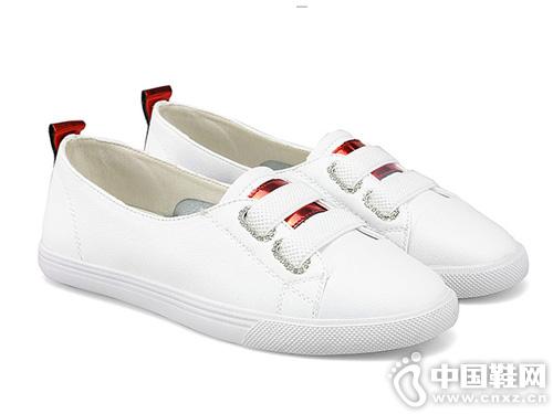 高蒂小白鞋女2019洋气夏季新款真皮板鞋