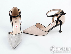 尖闲时尚中空职业女凉鞋仙妮特新款