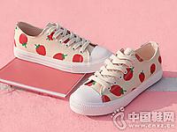 人本网红小白鞋女2019春款草莓鞋