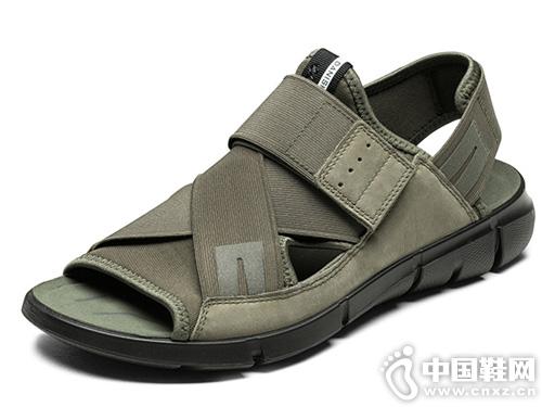 ECCO爱步防滑商务皮凉鞋
