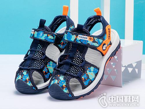 2019夏款永高人童鞋涼鞋包頭沙灘鞋
