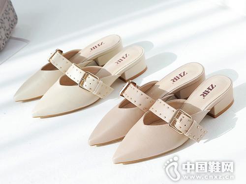 半拖鞋ZHRZHR2019夏网红穆勒鞋