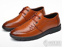 西域骆驼商务休闲皮鞋韩版英伦潮鞋
