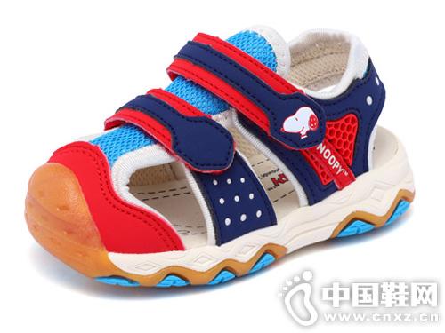 史努比童鞋男童凉鞋包头2019夏季新款