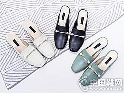 2019夏季新款OBT�W百特包�^外穿拖鞋