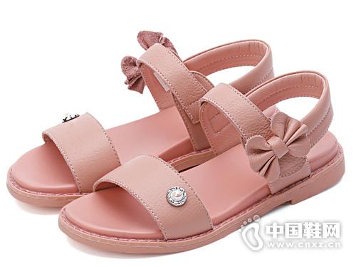 牧童女童凉鞋2019新款 时尚简约甜美公主鞋
