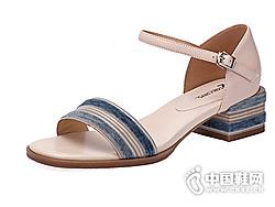 COZY STEPS2019夏季时尚露趾粗跟凉鞋