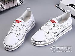 镂空小白鞋女2019夏款比佳妮懒人鞋