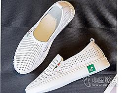 比佳妮网红小白鞋女2019百搭镂空女鞋