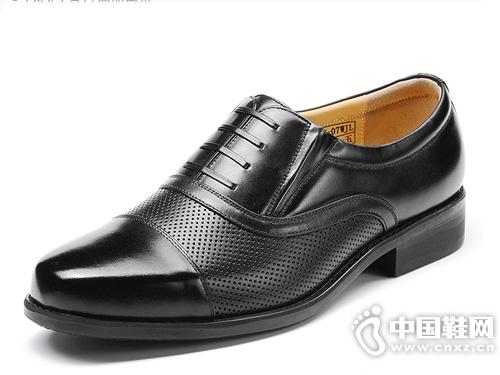 3515强人镂空皮凉鞋商务正装真皮皮鞋