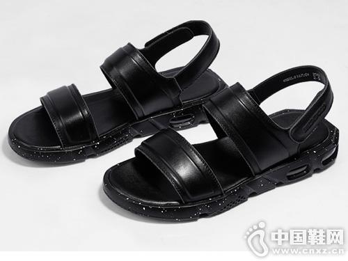 保罗骑士2019夏季真皮休闲凉鞋