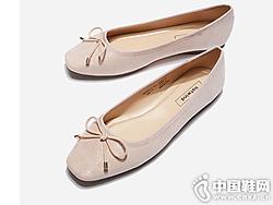 新款女士蝴蝶结休闲单鞋热风平底鞋