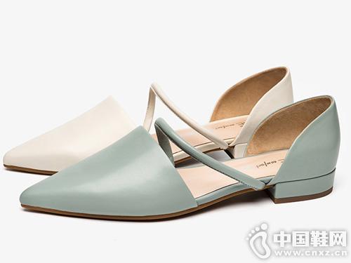 2019夏季新款CNE凉鞋女仙女风一字带玛丽珍鞋