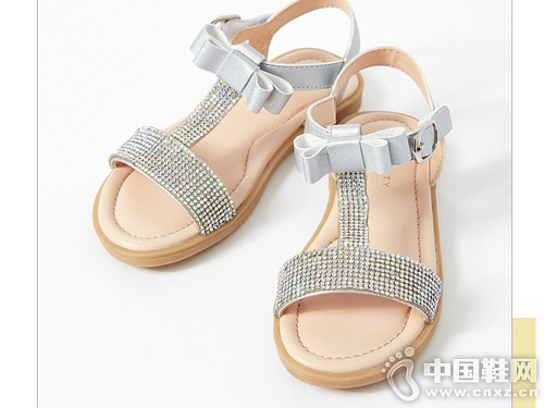 米喜迪mecity童装2019夏新款公主鞋凉鞋
