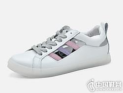 2019夏季小白鞋漫步佳人镂空板鞋