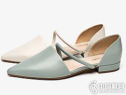 2019夏季新款CNE�鲂�女仙女�L一字�К���珍鞋