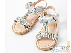 米喜迪mecity童�b2019夏新款公主鞋�鲂�