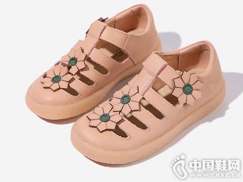 真皮女童格慕隆2019新款夏季包头公主鞋