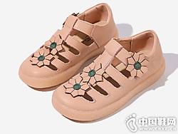 真皮女童格慕隆2019新款夏季包�^公主鞋