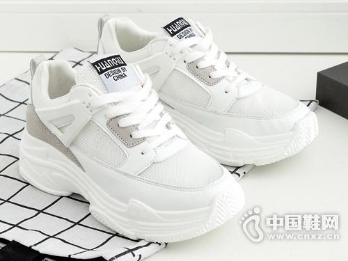 环球2019夏季新款老爹运动小白鞋