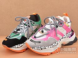 EIAIMI依百媚19设计师款牛皮拼色松糕鞋